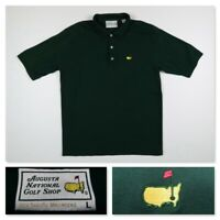 Masters Mens Large Green Solid Augusta National PGA Performance Golf Polo Shirt