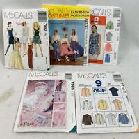 Mccalls Sewing Patterns Lot Vintage 7990 7253 9195 7985 7728