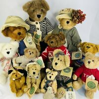 Boyds Bears Plush Lot Of 12 Collectibles With Tags Displayed Only  6 to 16""