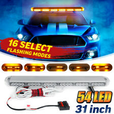 "Amber 54LED 31"" Emergency Traffic Advisor Double Side Warning Strobe Light Bar"