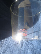 A GAS LANTERN PART. LARGE TAPERED GLOBE IN RED LETTERS. FITS COLEMAN #275 & 5114