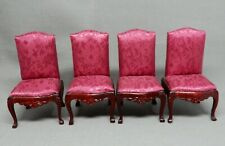4 Vintage Dining Chairs Dollhouse Miniature 1:12