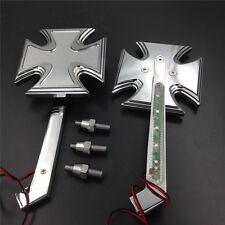 For Honda CBR900RR CHROME Motorcycle LED Turn signal Maltese Cross mirrors
