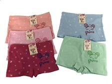 New Lot 5 Girl Princess Cotton Boxer Underwear Briefs #C307