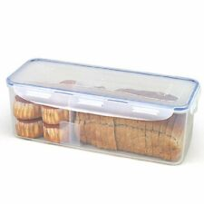 LOCK & LOCK Airtight Rectangular Food Storage Container with Divider, Bread Box