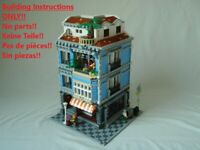 Spanish Cafe 2 LEGO Building Instruction ONLY!! 10182 10185 10190 10197 10211