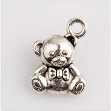 120 Toy Bear Tibetan Silver Charms Pendants Jewelry Making Findings EIF0672