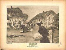 Place du Marché Dannemarie Haut-Rhin Altkirch Alsace Elsass Paul Dupuy 1915 WWI