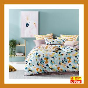 IZZY cotton QUEEN bed QUILT DOONA DUVET COVER SET  new  ADAIRS