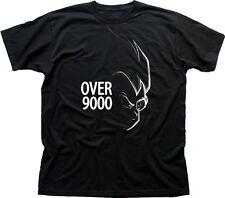 Over 9000 Dragon Ball Z Goku Anime Manga Fire black printed t-shirt TC9615