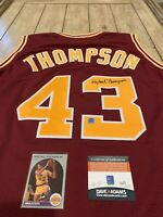 Mychal Thompson Autographed/Signed Jersey COA Los Angeles Lakers LA Minnesota
