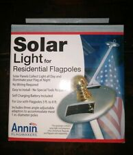 Annin Flagmakers 752250 Flag Pole Solar Light, Mini, Silver 3 Led'S American