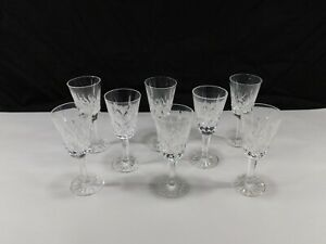 "Waterford Crystal Lismore 5 1/8"" Sherry cordial glasses set of 8"