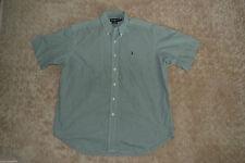 Ralph Lauren Loose Fit Short Sleeve Check Men's Casual Shirts & Tops
