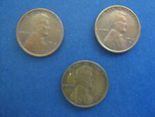 1915-P,D, S Lincoln Cents, All mint marks – all very fine