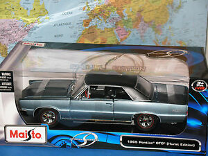 1/18 1965 PONTIAC GTO (Hurst Edition) MAISTO SPECIAL EDITION DIECAST *BRAND NEW*