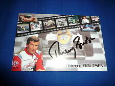 Thierry Boutsen signed autógrafo 10x15 cm autografiada mapa fórmula 1