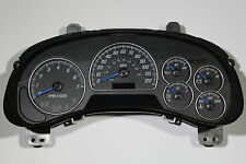 02-04 REBUILT GMC ENVOY COMPLETE CLUSTER WITH BLUE NEEDLES W/DIC *FREE EXT WARR*