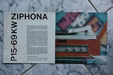 Sammlungsauflösung altes Prospekt RFT radio phono television Ziphona P15 !!!