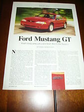 1996 FORD MUSTANG GT ***ORIGINAL ARTICLE / ROAD TEST***
