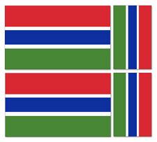 4 X GAMBIA FLAG VINYL CAR VAN IPAD LAPTOP STICKER BRITISH