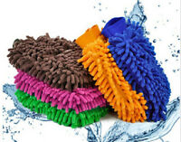1x Microfiber Car Window Washing Home Cleaning Cloth Duster Towel Gloves Chic
