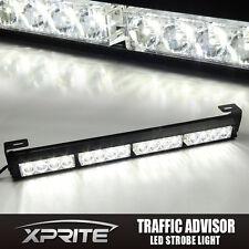 """White 18"""" 16 LED Emergency Warning Flash Strobe Light Bar Traffic Advisor"""