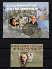 MICRONESIA, Scott # 647-648, SET OF 2 MINI SHEETS ROTARY INTERNATIONAL CENTEN.