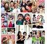 58 Photo Booth Selfie Props Moustache on Stick Weddings Christmas Birthday Party