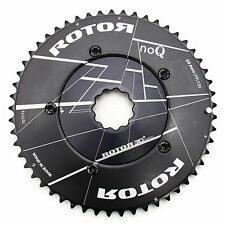 Rotor noQ Road TT Triathlon Bike Chainrings 53/39T 130 BCD 3D+ Aero Spider NEW