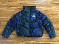 Nike Sportswear Synthetic Fill Puffer Jacket Black Blue CI5023-455 Women S and M