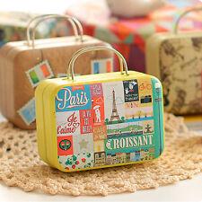 Koffer Blech Metall Trinket Süßigkeiten Schmuck Aufbewahrungsbox Multi Pattern