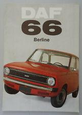 V19407 DAF 66 BERLINE - CATALOGUE - 09/72 - A4 - FR