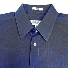 Joseph & Feiss Mens Large Dress Shirt No-Iron 16 32/33 Cotton Blue International