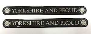 YORKSHIRE AND PROUD 2 x 100mm Stickers/Decals - HIGH GLOSS DOMED GEL FINISH