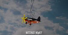 Stunt Airplane Single Prop Custom Christmas Ornament 1/64th Aircraft Plane Race