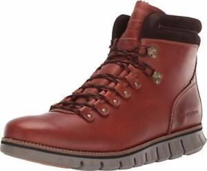 Cole Haan Men's Brown Leather ZeroGrand Mid-Top Hiking Boots