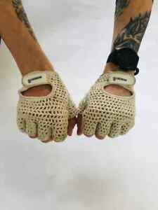 vintage cycling gloves retro look size XL