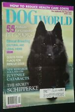 Dogs World Illustrated Magazine Schipperke Cover + Photos & Articles Apr. 2001