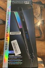 "INFINITI PRO Rainbow Titanium Flat Iron 1"" Flat Iron with Extra-Long Plates"