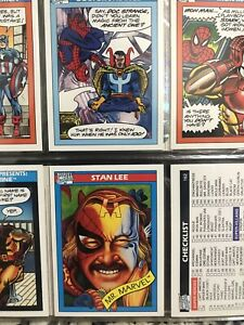 1990 Marvel Universe Impel Series 1 Complete Base Set 162 Cards + 5 Holograms