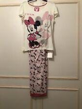 M&s Minnie mouse pink mix pyjamas size 16