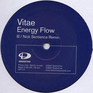 "Vitae - Energy Flow 12"" 2 VG+ UK Trance Vinyl DP 71/1 DP 71/2 2001 Record"