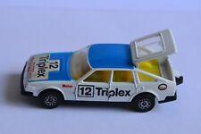 Rare vintage 1981 white Corgi Rover 3500 Triplex ESSO #12 with 10 Spoke Wheels