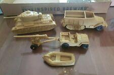 Marx Battleground Desert Fox Set of US Vehicles Khaki/Tan Vintage. Lot 3