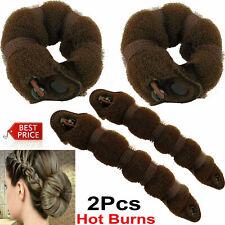 2PCS Hair Bun Mesh Maker Shaper Doughnut Former Ring Twist Styler Hairs Acc UK