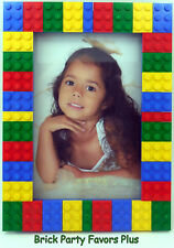 4x6 Picture Frame covered with New authentic LEGO pieces 3021 S1