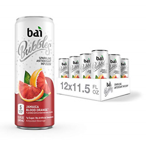 Bai Bubbles, Sparkling Water, Jamaica Blood Orange, Antioxidant Infused Drinks,