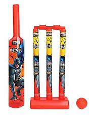 Batman Mini Cricket Set with 1 Plastic Bat Ball 3 Wickets Base and Bail