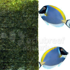 Seaweed Algae Herbivore Fresh/Saltwater Nori Veggie Fish Food 25/50/100 Sheets